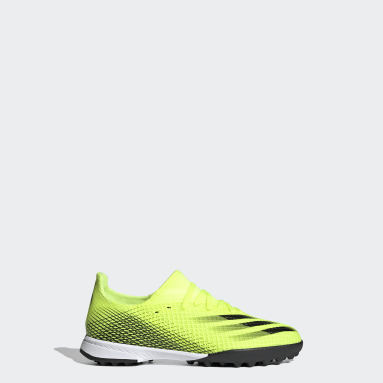 Chaussure X Ghosted.3 Turf Jaune Enfants Football