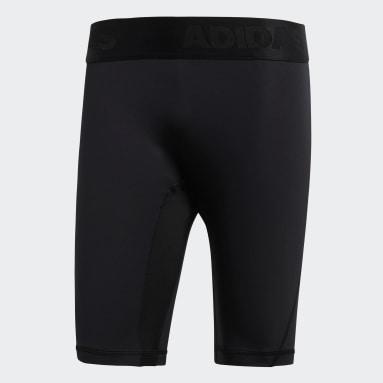 ผู้ชาย โยคะ สีดำ กางเกงรัดรูปขาสั้น Alphaskin
