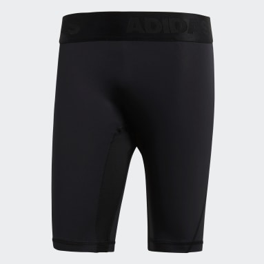 Men Yoga Black Alphaskin Sport Short Tights