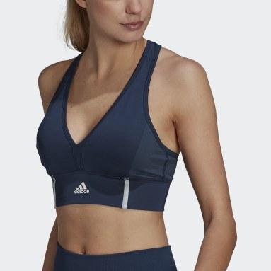 Top adidas Designed 2 Move AEROREADY Dance Azul Mulher Training