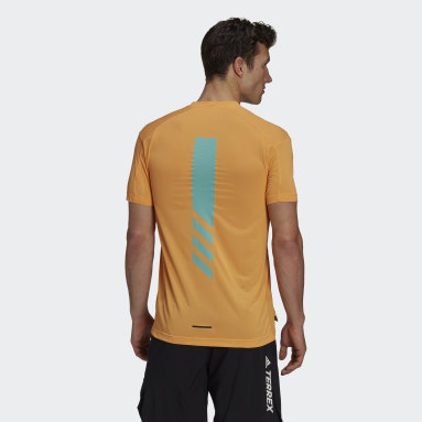 T-shirt Terrex Parley Agravic Trail Running All-Around Orange Hommes TERREX