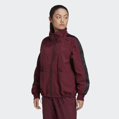 Veste de survêtement adidas by Stella McCartney Full-Zip Woven Bordeaux Femmes adidas by Stella McCartney