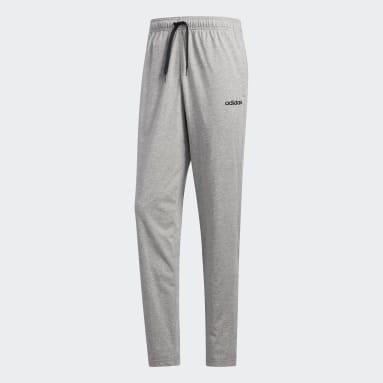 Men Training Grey Essentials Plain Tapered Pants