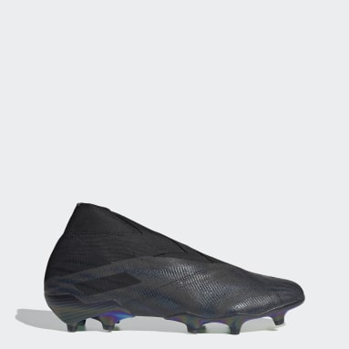 Men Football Black Nemeziz+ Firm Ground Boots