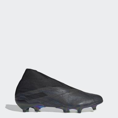Fodbold Sort Nemeziz+ Firm Ground støvler