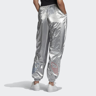 Women Originals Silver Adicolor Tricolor Metallic Japona Tracksuit Bottoms