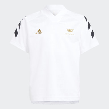Boys Training White Salah Football-Inspired Jersey