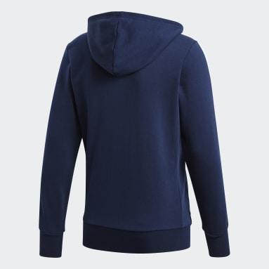 Men Sportswear Blue Essentials 3-Stripes Hoodie