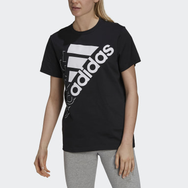 Women Sport Inspired Brand Love Slanted Logo Boyfriend Tee