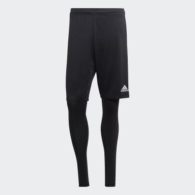 Men Gym & Training Black Tiro 19 Two-in-One Shorts