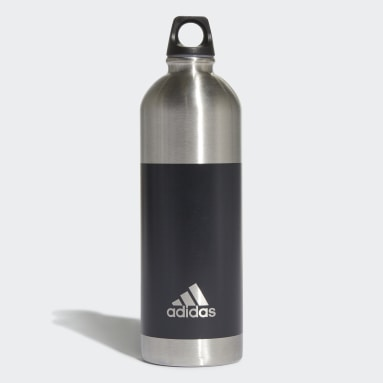 Gym & Training Grey Steel Water Bottle 0.75 L
