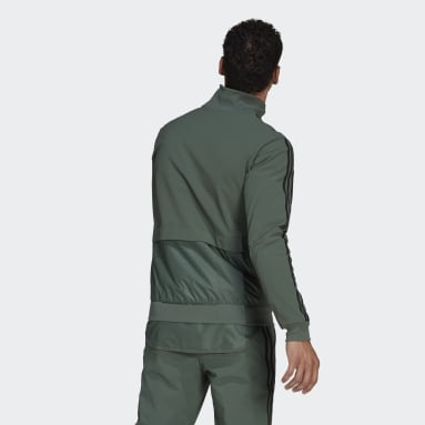 Men Cycling Green The Trackstand Cycling Track Top