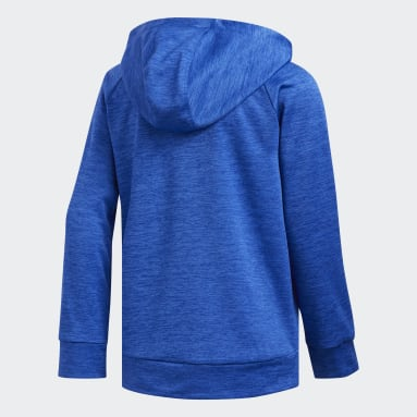 Youth Training Blue Poly Mélange Fleece Hoodie