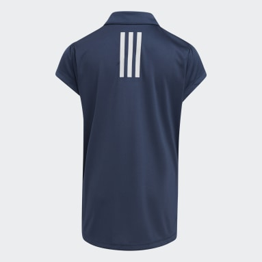 Meisjes Golf Blauw Performance Primegreen Poloshirt