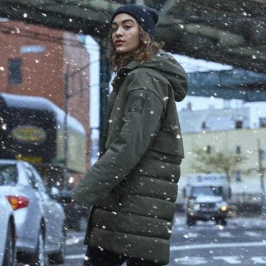 Women's Lifestyle Green MYSHELTER Climaheat Parka Down Jacket