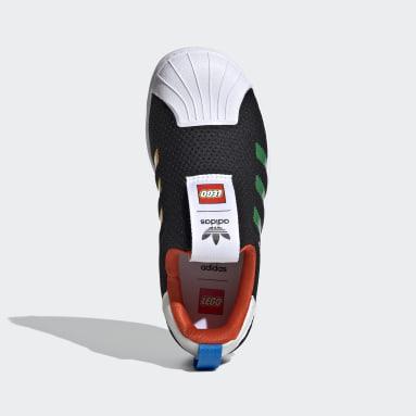 Çocuklar Originals Siyah adidas Superstar 360 x LEGO® Ayakkabı