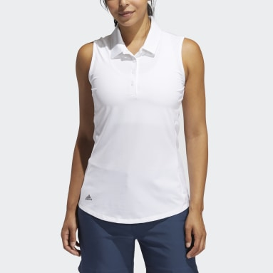 Dames Golf Wit Ultimate365 Solid Sleeveless Poloshirt