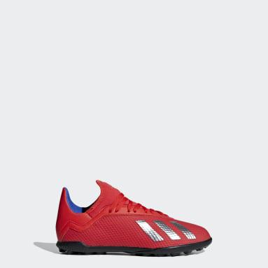 Children Football Red X Tango 18.3 Turf Boots