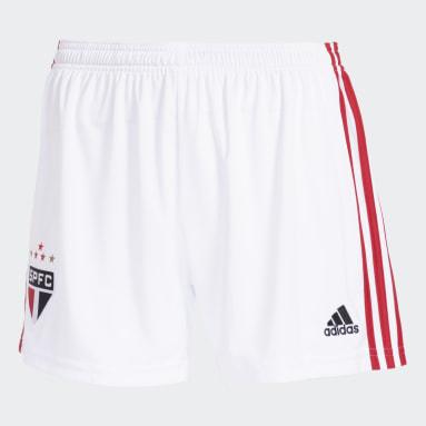 Shorts 1 São Paulo FC 20/21 Branco Mulher Futebol