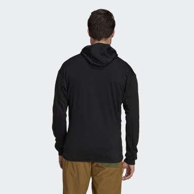 Terrex Tech Flooce Hooded Hiking Fleece Jakke Svart