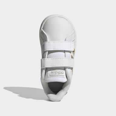 Kids Tennis White Grand Court Shoes