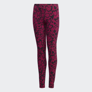 Girls Gym & Training Burgundy Must Haves Graphic Tights