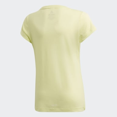 Youth 8-16 Years Gym & Training Yellow Prime T-Shirt