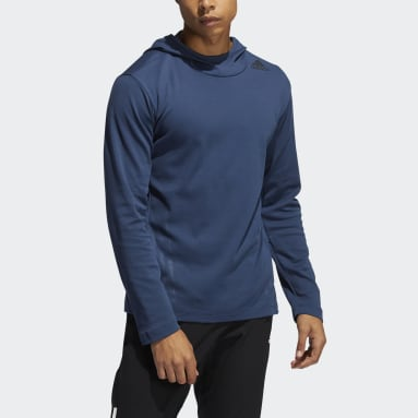 Men's Yoga Blue AEROREADY 3-Stripes Flow Primeblue Hoodie