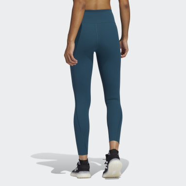 Women Gym & Training Turquoise Techfit 7/8 HEAT.RDY Tights