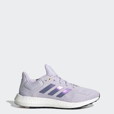 Women Running Purple Pureboost 21 Shoes