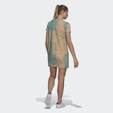 Women's Essentials Turquoise Tie-Dyed Effect Dress