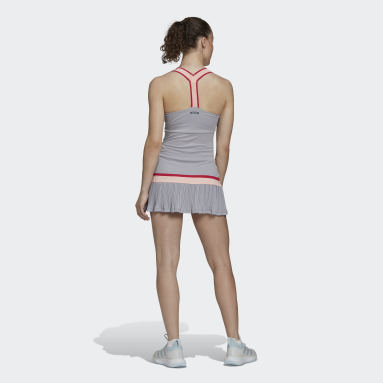 Women Tennis Grey TENNIS Y-DRESS HEAT.RDY