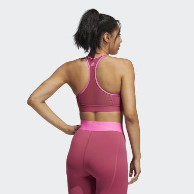 Women Gym & Training Pink Don't Rest Bra