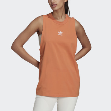 Women Originals Orange Adicolor Classics Loose Tank Top