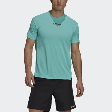 Men TERREX Green Terrex Parley Agravic Trail Running All-Around T-Shirt