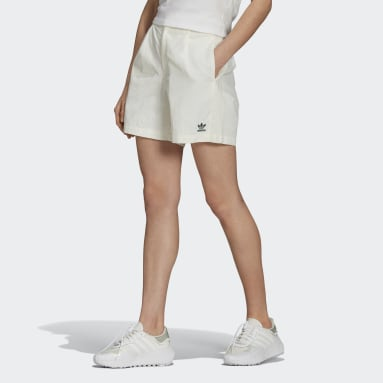 Women Originals White Tennis Luxe Shorts