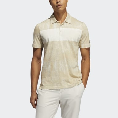 Men Golf Beige Adicross Desert Print Polo Shirt
