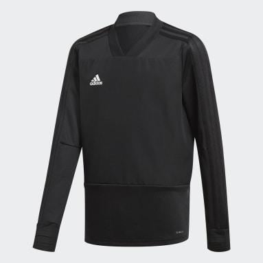 Camiseta manga larga entrenamiento Condivo 18 Player Focus Negro Niño Gimnasio Y Entrenamiento