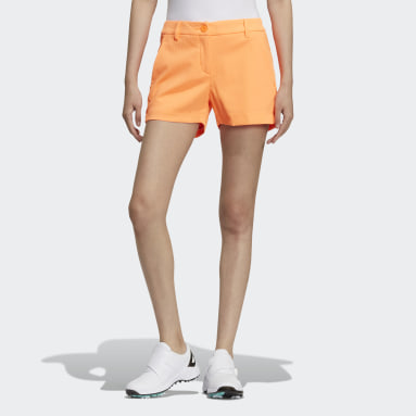 Women Golf Orange Shorts
