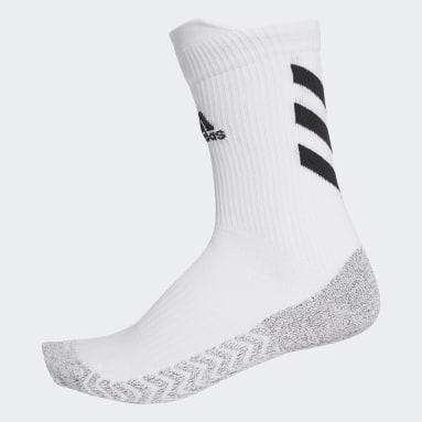 Handball White Alphaskin Traxion Crew Socks