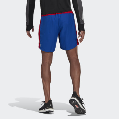 Men Running Blue Own The Run 3-Stripes Shorts