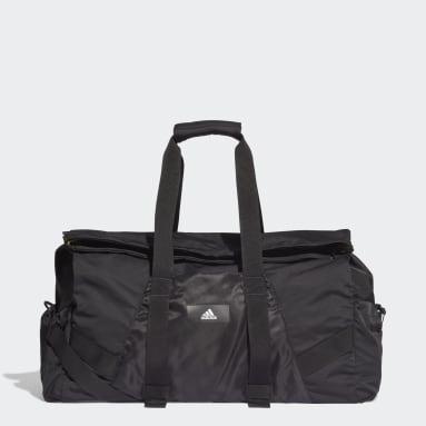 Women Handball Black Sports Duffel Bag