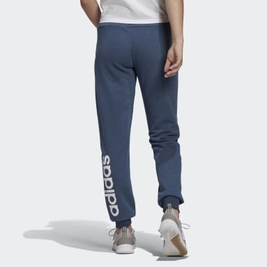 Pantalon Essentials French Terry Logo Bleu Femmes Sportswear