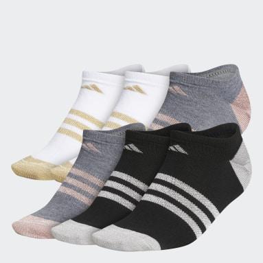 Women's Training Multicolor Superlite Shine No-Show Socks 6 Pairs