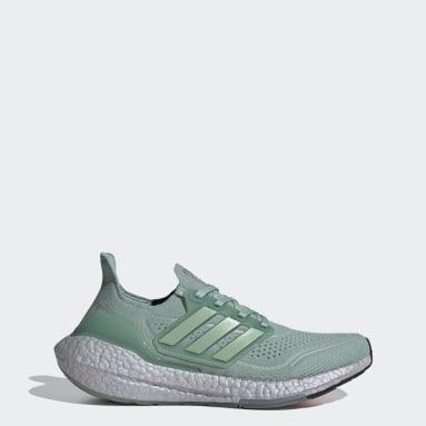 Sapatos Ultraboost 21 Verde Mulher Running
