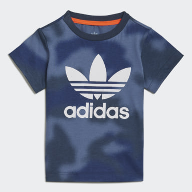 T-shirt Allover Print Camo Bleu Garçons Originals