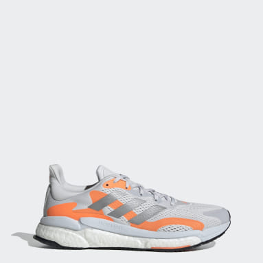 Running Grey SolarBoost 3 Shoes