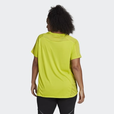 Women Running Yellow Own the Run Tee (Plus Size)