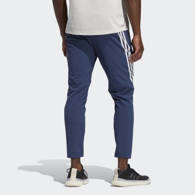Heren Fitness En Training Blauw AEROREADY 3-Stripes Broek