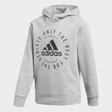 Boys Fitness Og Træning Grå Sport ID hættetrøje